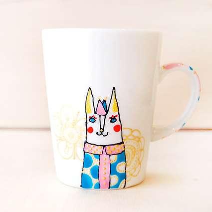 マグカップ(猫pink+blue)の商品写真