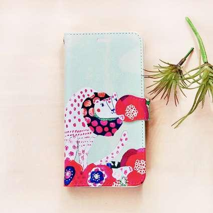 手帳型スマホケース/たたずむひょうの商品写真